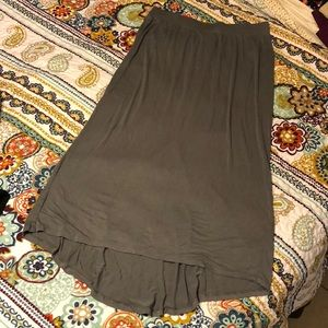 Maternity Gray Maxi Skirt